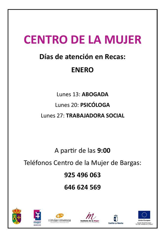Centro de la Mujer horarios enero